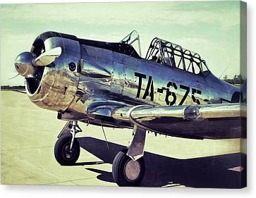 The North American Aviation T-6 Texan Plane Color Edition Canvas Print by Tony Grider