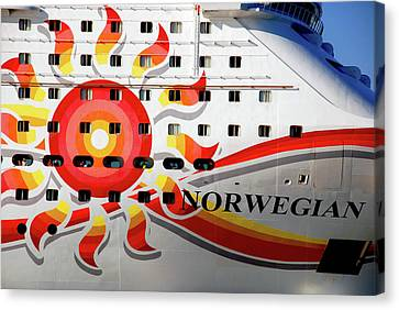 The Norwegian Sun Bow Canvas Print by Susanne Van Hulst