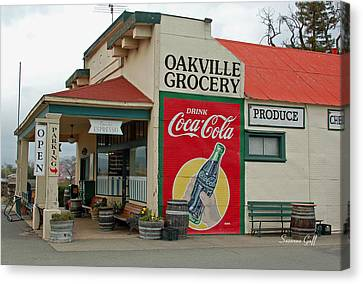 The Oakville Grocery Canvas Print by Suzanne Gaff