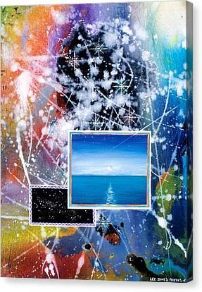 The Ocean Dawn Canvas Print by Lee Pantas