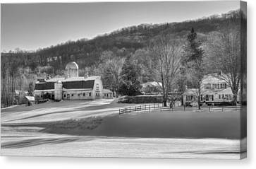 The Ol Homestead Bw Canvas Print by Bill Wakeley