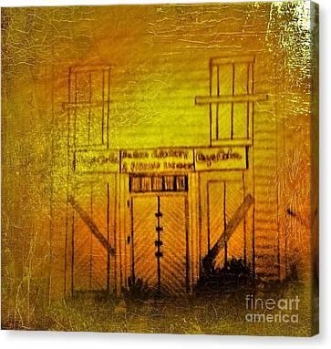 The Old Burem Store  Canvas Print by Debra Lynch