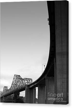 The Old Carquinez Bridge . Black And White . 7d8832 Canvas Print by Wingsdomain Art and Photography