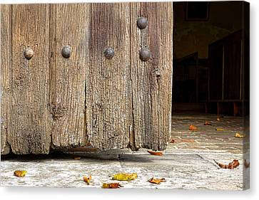 The Old Church Door Canvas Print by Olivier Le Queinec