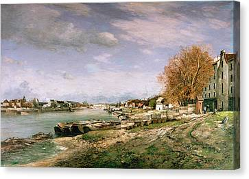 The Old Quay At Bercy Canvas Print by Jean Baptiste Armand Guillaumin