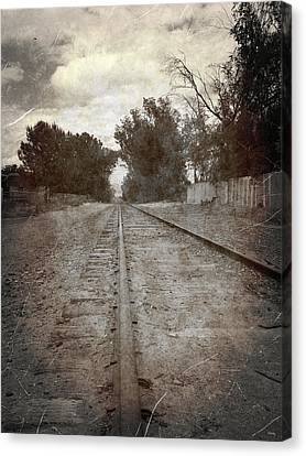 The Old Railroad Tracks Canvas Print by Glenn McCarthy Art and Photography