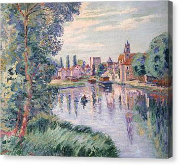 The Old Samois Canvas Print by Jean Baptiste Armand Guillaumin