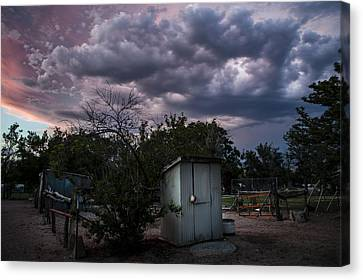 The Old Shed Canvas Print by Cat Connor