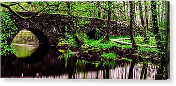 The Old Stone Bridge Canvas Print by Toppart Sweden