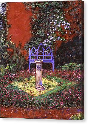 The Old Sundial Canvas Print by David Lloyd Glover