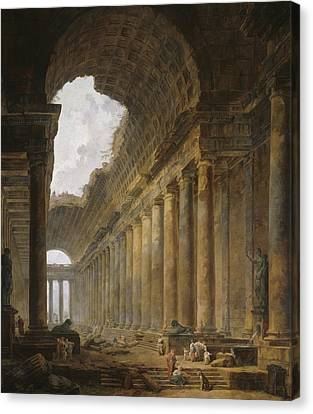The Old Temple Canvas Print by Hubert Robert