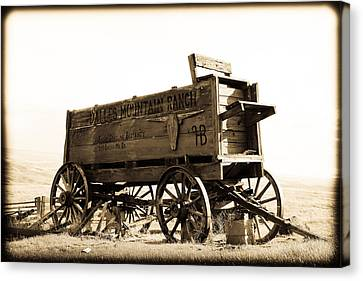 The Old Wagon Canvas Print by Steve McKinzie