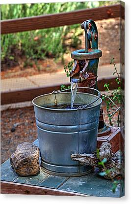 The Old Water Pump Canvas Print by Richard Stephen
