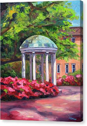 The Old Well Unc Canvas Print by Jeff Pittman