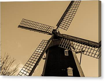 The Old Windmill Canvas Print by Toppart Sweden