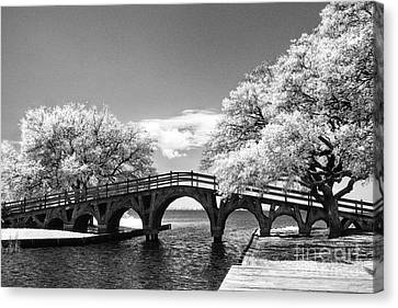The Old Wood Bridge Canvas Print by Jeff Holbrook
