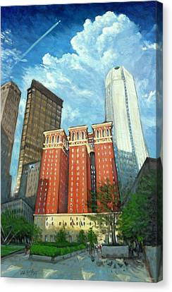 The Omni William Penn Hotel Canvas Print by Erik Schutzman