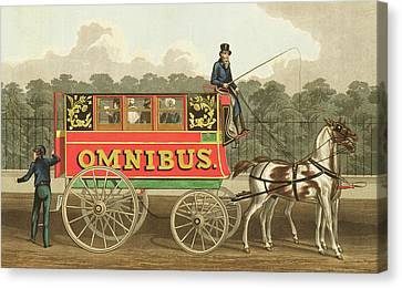 The Omnibus Canvas Print by Robert Havell