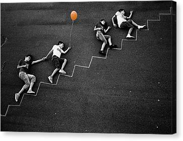 The Orange Balloon Canvas Print by Nicolino Sapio
