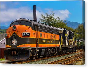 The Orange Great Northern Railway Canvas Print by Garry Gay
