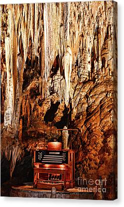 The Organ In The Cavern Canvas Print by Paul Ward