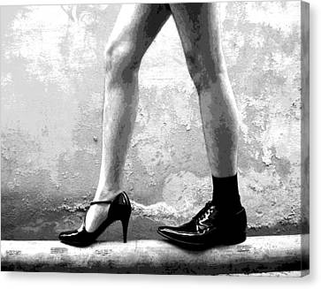 The Other Shoe 2 Canvas Print by Sumit Mehndiratta