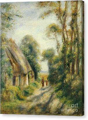 The Outskirts Of Berneval  Canvas Print by Pierre Auguste Renoir