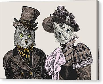 The Owl And The Pussycat Canvas Print by Eclectic at HeART