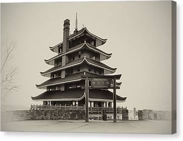 The Pagoda - Reading Pa. Canvas Print by Bill Cannon