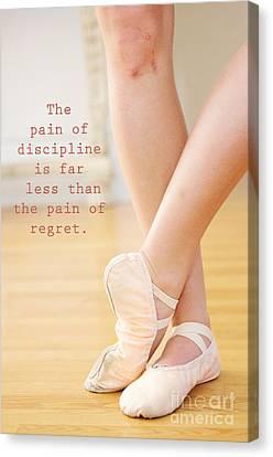 The Pain Of Discipline Canvas Print by Kim Fearheiley