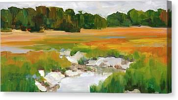 The Painted Marsh Canvas Print by Barbara Benedict Jones