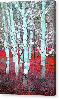 The Pale Trees Of Winter Canvas Print by Tara Turner