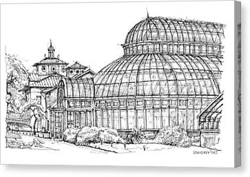 The Palm House In Brooklyn  Canvas Print by Building  Art