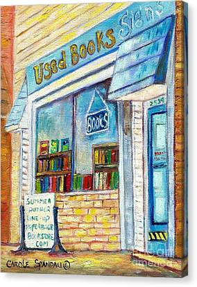 The Paperbacks Plus Book Store St Paul Minnesota Canvas Print by Carole Spandau