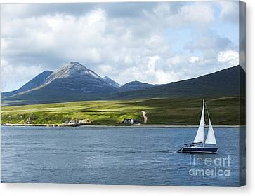 The Paps Of Jura Canvas Print by Diane Diederich