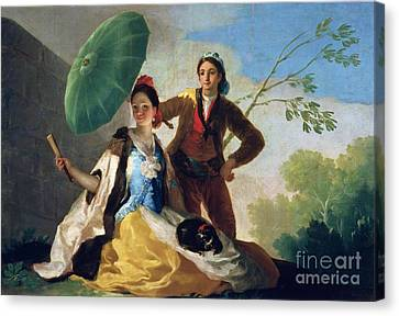 The Parasol Canvas Print by Goya