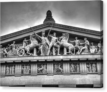 The Parthenon In Nashville Canvas Print by John Straton
