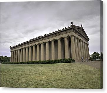 The Parthenon In Nashville V3 Canvas Print by John Straton