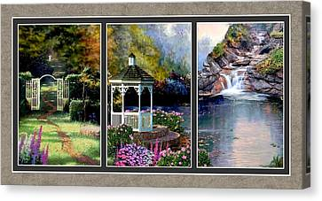 The Path Least Followed Split Image Canvas Print by Ron Chambers