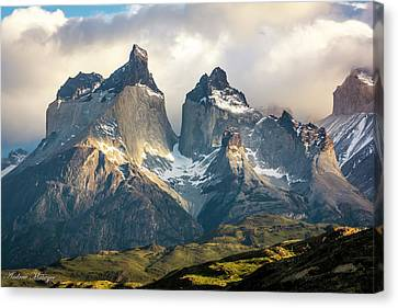 The Peaks At Sunrise Canvas Print by Andrew Matwijec
