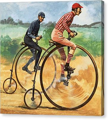 The Penny Farthing Canvas Print by Peter Jackson
