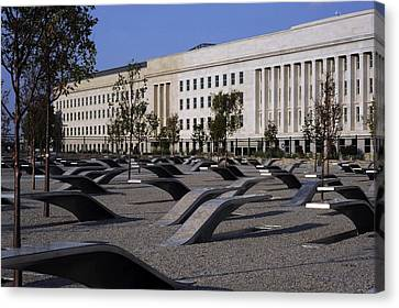 The Pentagon Memorial Honoring The 184 Canvas Print by Everett