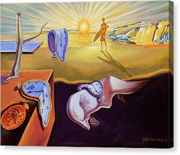 The Persistence Of Memory-amadeus Series  Canvas Print by Dominique Amendola