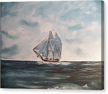 The Phantom Of The Sea Canvas Print by Laurie Kidd