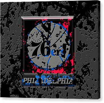 The Philadelphia 76ers 1a Canvas Print by Brian Reaves