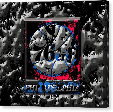The Philadelphia 76ers Canvas Print by Brian Reaves