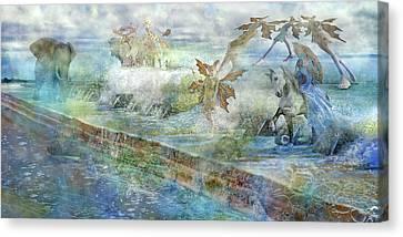 The Piano  Canvas Print by Betsy Knapp