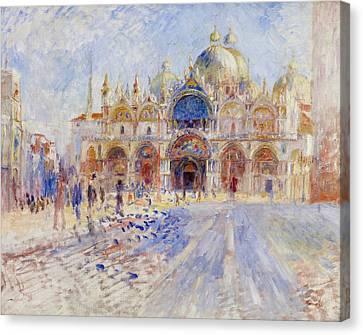 The Piazza San Marco, Venice 1881 Canvas Print by Pierre Auguste Renoir
