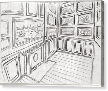 The Picture Gallery At The Soane Museum 2 Canvas Print by Arter