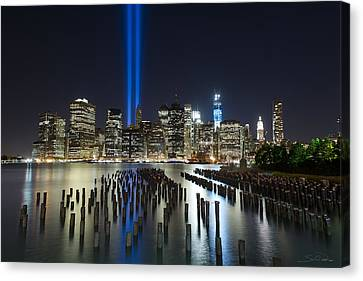 The Pier - World Trade Center Tribute Canvas Print by Shane Psaltis